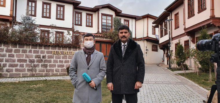 SASAM DİREKTÖRÜ KILIÇ, KAZAKİSTAN TELEVİZYONUNA AÇIKLAMA YAPTI